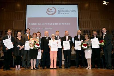 Alle Preisträger mit ihren Auditoren